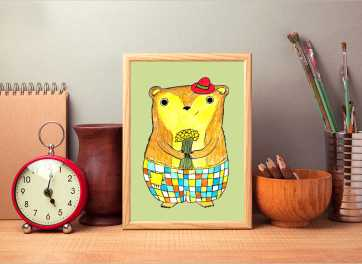 Printable animal drawings that you can buy for nusersy room